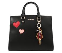 Handtasche mit Herzen und Girl schwarz