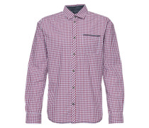 Langarmhemd blau / rot / weiß