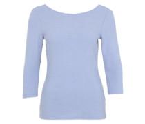 3/4-Arm-Shirt mit tiefem Rückenausschnitt hellblau