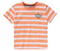 Slubjersey-T-Shirt für Jungen orange / weiß