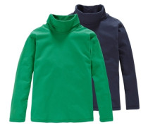 CFL Rollkragenshirt (Packung 2 Stück) für Jungen blau / grün