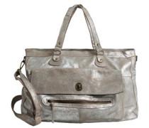 Leder-Reisetasche silber