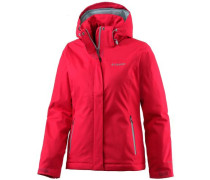 Everett Mountain Softshelljacke Damen hellgrau / rot