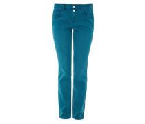 Shape Slim: Jeans mit Knöpfen petrol