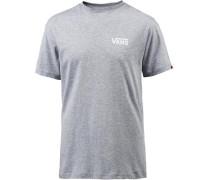 'left Logo' T-Shirt Herren grau