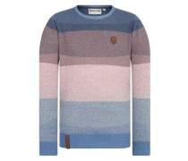 Knit Pullover hellblau / rosé