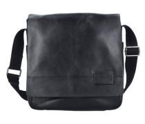 Connor Messenger Tasche Leder 30 cm Laptopfach schwarz