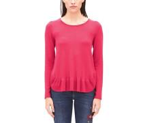 Pullover mit Volantsaum pink