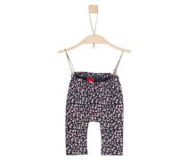 Jersey-Leggings mit Printmuster dunkelblau / rosa / weiß