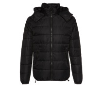 Winterjacke 'coated jkt' schwarz