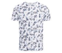 Print T-Shirt graphit / weiß