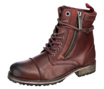 Melting Zipper Stiefeletten rot