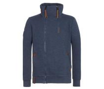 Zipped Jacket 'Du Affenmensch Iii' blau