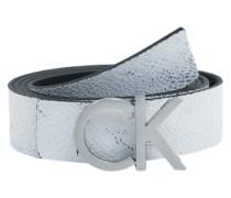 Ledergürtel 'Reversible belt' mit Geschenkbox weiß