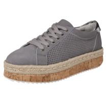Plateau-Sneaker 'Adiva' hellgrau / silber