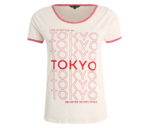 Printshirt mit Retro-Flair weiß