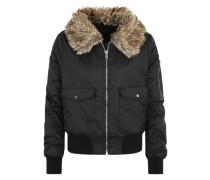 'Kate Fur Collar' Jacke schwarz