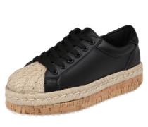 Plateau-Sneaker 'Adiva' beige / schwarz