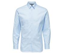 Langarmhemd Schmal geschnittenes hellblau