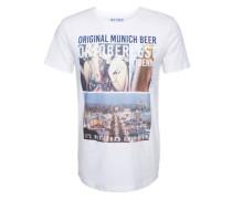 T-Shirt 'wiesen photoprint tee' weiß