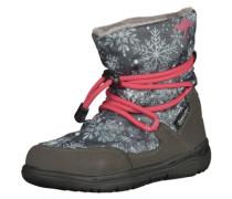 Stiefel grau / hellgrau / pink / weiß