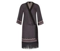 'Kleid im Kinmono-Stil' blau / schwarz