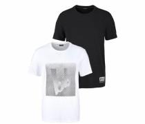 T-Shirt (Packung 2er-Pack) schwarz / weiß
