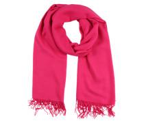 Schal mit Fransensaum pink