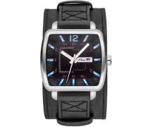 "Armbanduhr ""so-3047-Lq"" schwarz / silber"