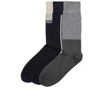 Socken 3er-Pack ultramarinblau / grau / graphit / offwhite