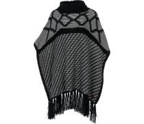 Poncho 'Rega' schwarz / weiß