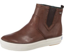 Triple Chelsea Pull UP Leather Sneakers braun
