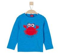 Baby Langarmshirt für Jungen 'Unterwassertiere' himmelblau / hellrot