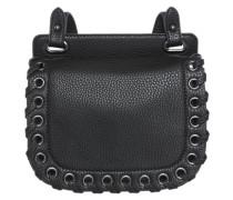 Handtasche mit Flecht-Detail schwarz