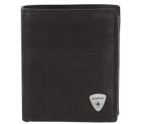Harrison Geldbörse Leder 9 cm schwarz