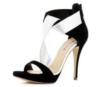 Damen Sandalette schwarz / silber