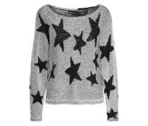 Star-Strickpullover schwarz / silber