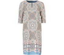 Kleid hellblau / hellbraun / rosa / naturweiß