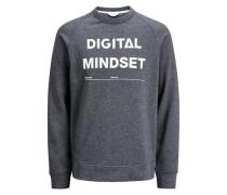 Sweatshirt Print dunkelgrau