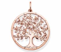 Kettenanhänger 'Tree of Love Pe759-416-14' rosegold / weiß