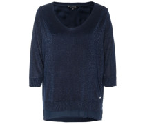 Oversize Pullover blau