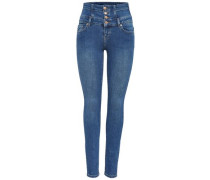 Skinny Fit Jeans Coral Corsage blau