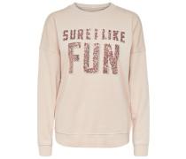 Bedrucktes Sweatshirt puder