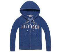 Sweatshirt 'thdw Basic Grphc ZIP Hoody L/S 13' dunkelblau