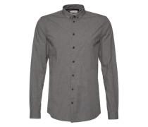 Hemd in Melange-Design 'Popel' graumeliert