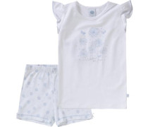Schlafanzug für Mädchen hellblau / weiß