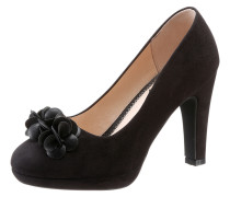 Trachten-Pumps mit Blumenapplikation