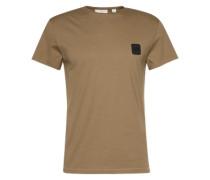 Basic-Shirt im Used-Look khaki / oliv