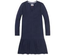 Kleid mit 3/4-Ärmel navy