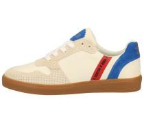 Sneaker beige / rot / blau